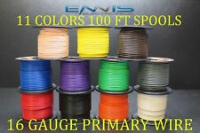 16 GAUGE WIRE 1100 FT ENNIS ELECTRONICS 100 FT 11 SPOOLS PRIMARY AWG COPPER CLAD