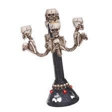 Resin Skull Candelabra Haunted Table Centerpiece Decorative Goth Floor Lamp
