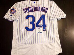 Noah Syndergaard Thor Hand Signed New York Mets Jersey Beckett BAS Cert