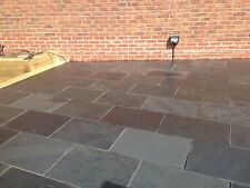 Black Slate Paving ✔ Patio Slabs✔ Garden 15m2 600x400mm 15to20mm ✔FREE✔DELIVERY✔