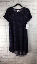 LuLaRoe, NEW With Tags; Carly Dress, Small S; Black And Blue Diamond Print