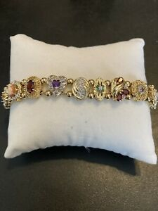 Estate gorgeous 14K solid gold slide bracelet Near Mint Condition!