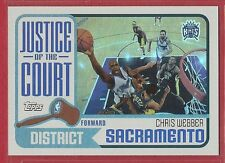 2003-04 Topps Basketball - Justice of the Court - #5 - Chris Webber - Kings