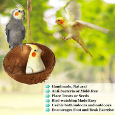 Pet Parrot Cage Swing Toy For Birds Coconut Shell Bird House Hideout Hanging_ex