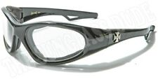Motorcycle Goggles New Padded Sport Wrap Sunglasses Chopper Biker Black CH5010TS