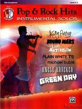 Pop & Rock Hits Instrumental Solos Alto Sax Saxophone Sheet Music Book & CD