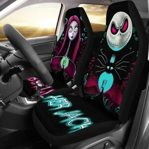 The Nightmare Before Christmas Car Seat Cover 2PC Universal Leather Protectors