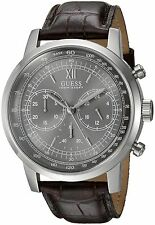 GUESS BROWN AND SILVER-TONE CHRONO 43MM MEN'S WATCH U0916G1 NEW! Fast Shipping!