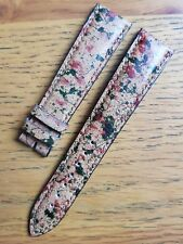 Blancpain 19mm Brown/Camo Pattern Calf Leather Strap Never Used - Genuine RARE!