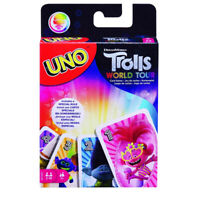 Uno by Mattel - Trolls World Tour Edition - Family Card Game for 2 - 10 Players