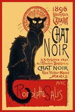 Chat Noir Cabaret Poster Paris Vintage AD. format A2