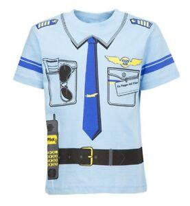 Großhandel 30 stück Kinder Uniform Kostüm T-Shirt * Pilot  92/98 bis 140/146
