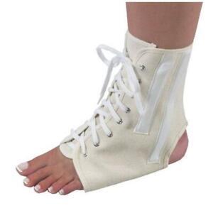Bilt-Rite Mastex Health 10-26000-LG-2 Canvas Ankle Brace With Laces Beige - L...