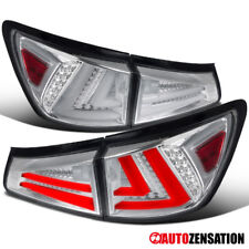 For 06-08 Lexus IS250 IS350 Chrome Clear LED Light Bar Tail Brake Lamps