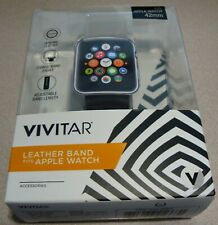 Vivitar leather band fits Apple watch 42mm Brown  NEW