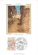 CP 1 jour - Cordes l' escalier du pater Noster la tour de l' horloge 1980