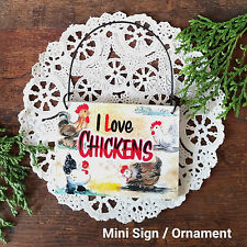 DecoWords Mini Sign Ornament Chicken SIGN Our Original Design USA Chickens 4H