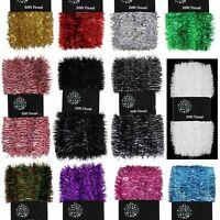 Christmas Tree 50ft x 3cm Tinsel GREAT VALUE - Ideal for Crafting - 12 Colours