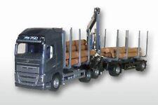 EMEK 71353 Volvo FH04 GL 6x4 Holzhängerzug 1:25 schwarzes FH, 6x4 mit 2achs Anhä