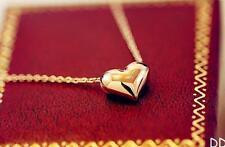 2 Pcs Pretty Gold Heart Womens Bib Statement Chain Jewelry Pendant Necklace