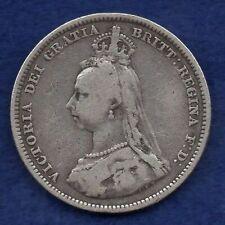 More details for great britain, victoria, 1889 small head shilling, scarce (ref. c8282)