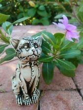 "Mexican Talavera Catrina Cat Statue Figurine Skeleton Day Of The Dead Art 5"""