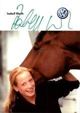 Isabell Werth Autogrammkarte Reiten signiert signed OLYMPIA Reiten AK NEU 499 UH
