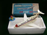 VINTAGE TOY-1960S-CHINA AIRLINE-BOEING 727 JET PLANE-WORKS FINE- VERY ENTERTAIN-