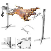 Simple Install BBQ Kit Grill Rotisserie Spit Roaster Rod Charcoal + 15W Motor
