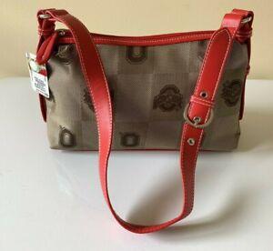 Ohio State Buckeyes Purse/ Handbag/ Shoulder Bag/ Clutch/ Brown/ Red/ Sandol NEW