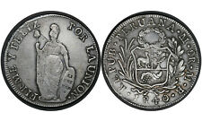 8 Reales 1840 MB Republic Peru Silver Coin   #  142  From 1$