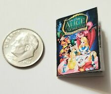 Miniature dollhouse Disney Princess book Barbie 1/12 Scale Alice in Wonderland