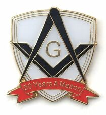50 Years a Mason Masonic Commemorative Lapel Pin Badge *Exclusive*