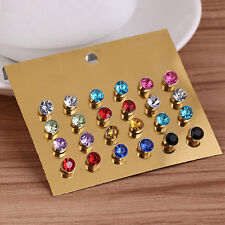 12 Pair No Piercing Clip On Magnetic Magnet Ear Studs Mens Womens Earrings CHIC
