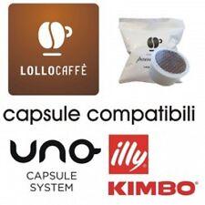 200 capsule caffè LOLLO miscela NERA compatibili UNO SYSTEM ILLY KIMBO INDESIT