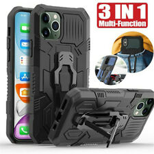 For Apple iPhone 12 Pro Max Anti-fall Belt Clip Rugged Case PC+TPU Hybrid Cover