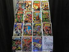 Kazar the Savage (Marvel 1981-83) #3-25 Lot of 15Diff feat. Zabu the Sabrecat