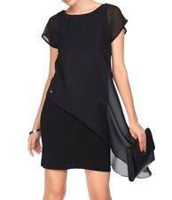 Etuikleid von Bruno Banani Doppelkleid Chiffon-Jerseykleid Kleid schwarz Neu