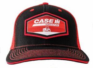 CASE IH *BLACK & RED MESH BACK* PATCH LOGO TWILL Hat Cap NEW CIH2653