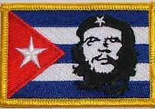 1 bandiera bandiera aufbügler Patch 9 x 6 cm Ricamate CHE GUEVARA ROSSO motivo n
