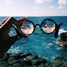 Kaleidoscope Glasses Rave EDM Dance Diffracted Rainbow Festival Retro Sunglasses