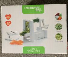 Farberware 3 in 1 Vegetable Spiralizer (Spiraliser) Spirals Brand new