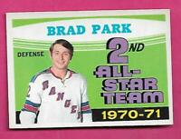 1971-72 OPC # 257 RANGERS BRAD PARK AS EX-MT CARD  (INV# C2876)