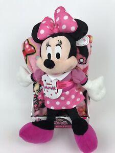"""NEW Disney MINNIE MOUSE 40"""" x 50"""" Soft THROW BLANKET & PILLOW Plush Figure"""