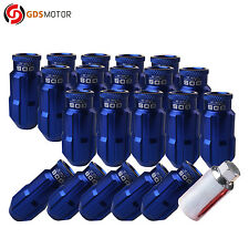 20X GDS Blue Wheel Lug Nuts Screw Set 50mm M12x1.25 For Nissan Subaru Infiniti