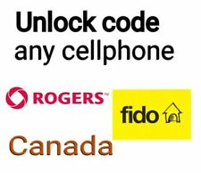 Rogers/Fido Unlock Code CHEAP FOR SONY, SAMSUNG, LG, HTC, HUAWEI...... ETC FAST.