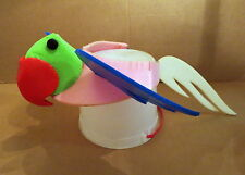 Adult One Size Foam Multi-Color Parrot Hat / Parrot Visor / Bird Hat