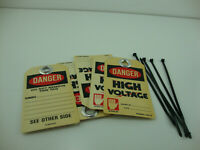 5 Danger High Voltage Lockout Tags With Zip Tie