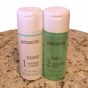 Proactiv 2oz Renewing Cleanser Revitalizing Toner Duo Proactive 30 Day 4oz total
