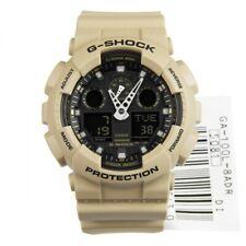 New G-Shock GA100L-8A Men's Analog Digital X Large Sand / Black G Shock Watch